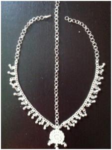 Pann smycke i silvermetal