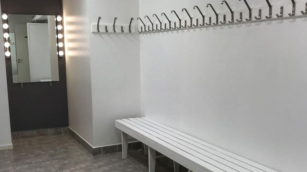 Omklädningsrum på Västmannagatan 46